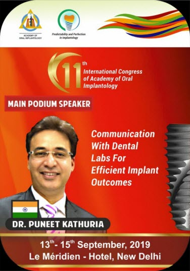 Dental Labs Speaker - Dr. Puneet Kathuria
